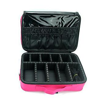 Swotgdoby Makeup Brush Holder Portable Travel Cosmetic Bag, Multifunction Organizer For Women