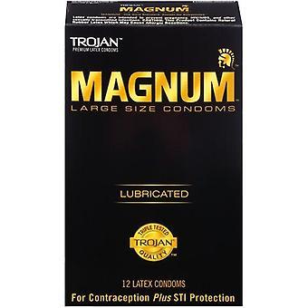 Trojan Magnum Large Size Lubricated Condoms - 12 count