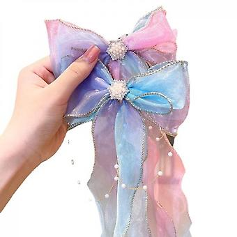 5 Piece Set Of Ribbon Bow Hairpin