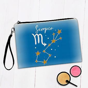 Gift Makeup Bag: Scorpio Constellation Zodiac