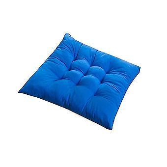 Chaises square chair soft pad seat cushion for home office indoor outdoor garden sapphire blue