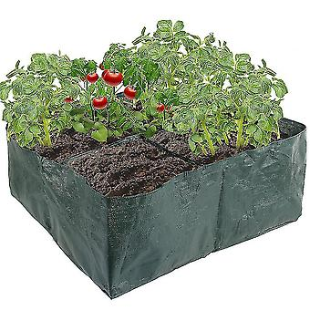 Indoor outdoor plants plant grow bags garden vegetable flower planting pot 4 grids foldable 60cm¡Á60cm¡Á25cm