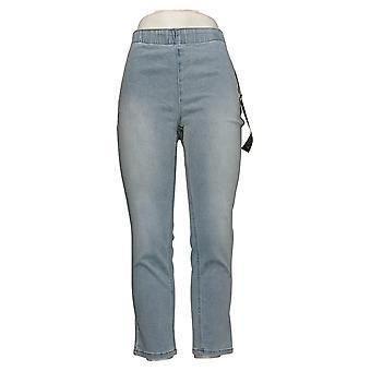 DG2 door Diane Gilman Dames Petite Jeans Pull-On Skinny Ankle Blue 765282