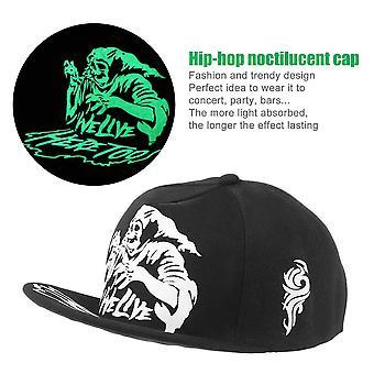Fashion Light In Dark Night Luminous Glow Snapback Baseball Hip-hop Cap Hat