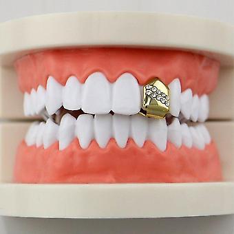 Trendikäs tyyli Electroplate Hip Hop Yhden hampaan korkki ylä- ja alagrilli