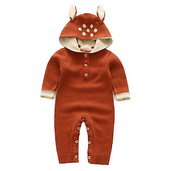 Baby tricotate Rompers fete nou-născute Boys Onesies pulover cald Salopeta Tinute