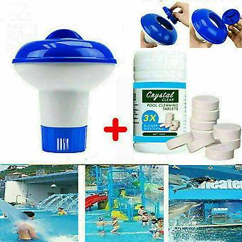100g Pool Cleaning Floating Chlorine Hot Tub Chemical Dispenser-1