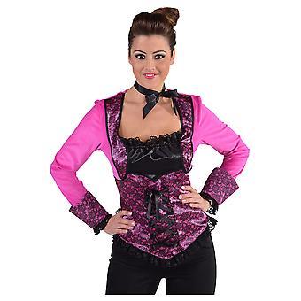 Costumi delle donne camicia con corsetto nero