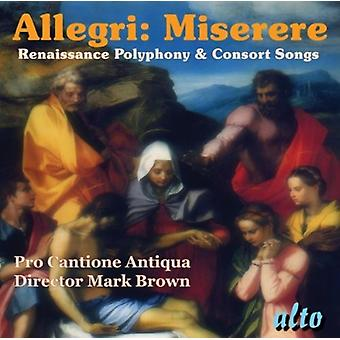 Pro Cantione Antiqua - Allegri: Miserere [CD] USA import