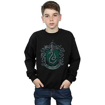 Harry Potter Boys Slytherin Distressed Crest Sweatshirt