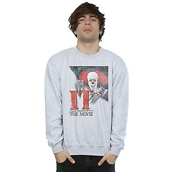 It (1990) Men's Distressed Poster Sweatshirt