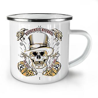 Too Tough To Die Skull NEW WhiteTea Coffee Enamel Mug10 oz | Wellcoda