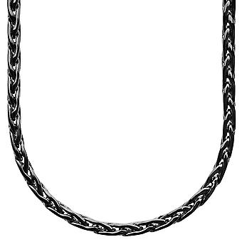 Iced out bling SLIM BASKET chain - 4mm black