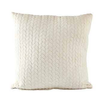 Villa Collection Knit Pattern Cushion, Cream