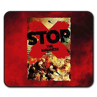 Krieg Wahnsinn Frieden Anti-Rutsch-Mauspad Pad 24 x 20 cm | Wellcoda