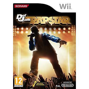 Defjam Rapstar-alleen spel (Wii)-nieuw