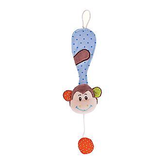Bigjigs Toys doux en peluche singe espiègle chaîne factice Cot Pram nouveau-né sensorielle