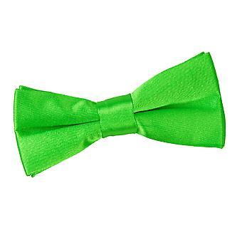 Apple Green platte satijnen vooraf gebonden strikje voor jongens