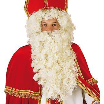 Santa Claus mis perruque père Noël blanche Wrinklies