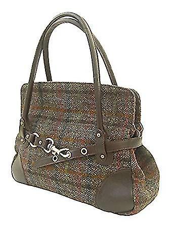 Harris Tweed Handbag R (Brown)