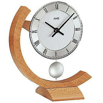 Table clock wooden clock quartz clock with pendulum beech table clock wooden