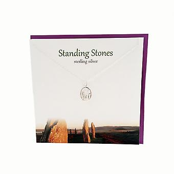 The Silver Studio Outlander Inspired Standing Stones Pendant Card