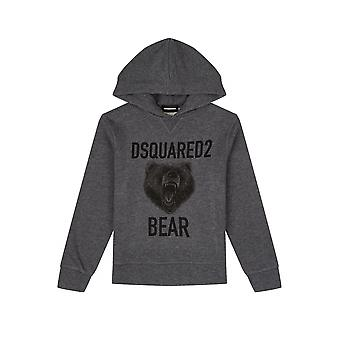 DSQUARED2 Kids Grey Hooded Sweatshirt