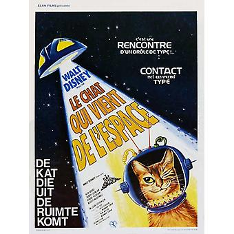 The Cat from Outer Space Movie Poster (11 x 17)