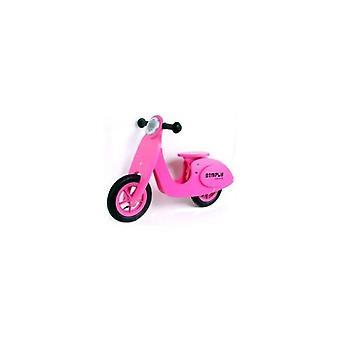 Scooter tout simplement en bois solde 22029 pour enfants rose