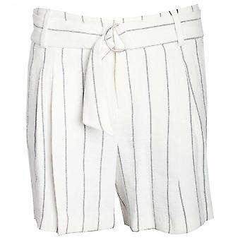 Oui Damen Nadelstreifen Kleid Shorts mit Gürtel