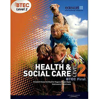 BTEC nível 2 primeira saúde e Assistência Social estudante livro por Sian lima