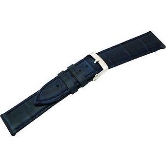 Morellato Leather Strap Unisex A01X2269480061CR20 bubbles, dark blue, 20 mm