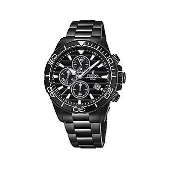 שעון קוורץ של festina גברים הכרונוגרף עם רצועת פלדת אל-חלד F20365/3