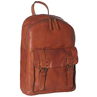 Ashwood nahka Shoreditch Vintage Dipped nahka reppu-Rust Tan