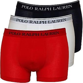 Polo Ralph Lauren Classic 3er Pack Boxer Trunks, weiß/rot/blau