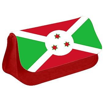 Burundi Flag Printed Design Pencil Case for Stationary/Cosmetic - 0028 (Red) by i-Tronixs