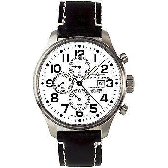 Zeno-watch mens watch oversized pilot Basilea Chrono 8557TVD-i2