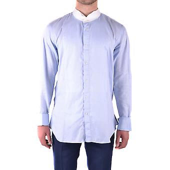 John Galliano Ezbc189001 Men's Light Blue Cotton Shirt