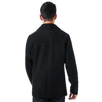 Mens Tokyo Laundry Umberto Double Breasted Jacket In Navy- Double Breasted