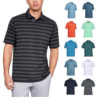 Under Armour Mens CC Scramble Stripe Charged Cotton Polo Shirt