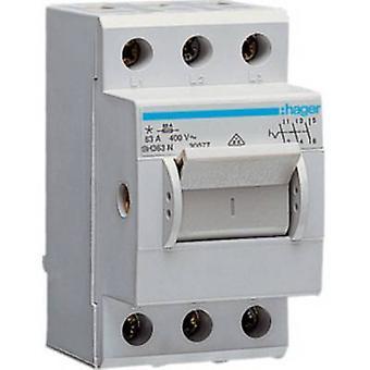 Główny przełącznik szary 3-pin 63 A 230 V AC, 400 V AC Hager SH363N