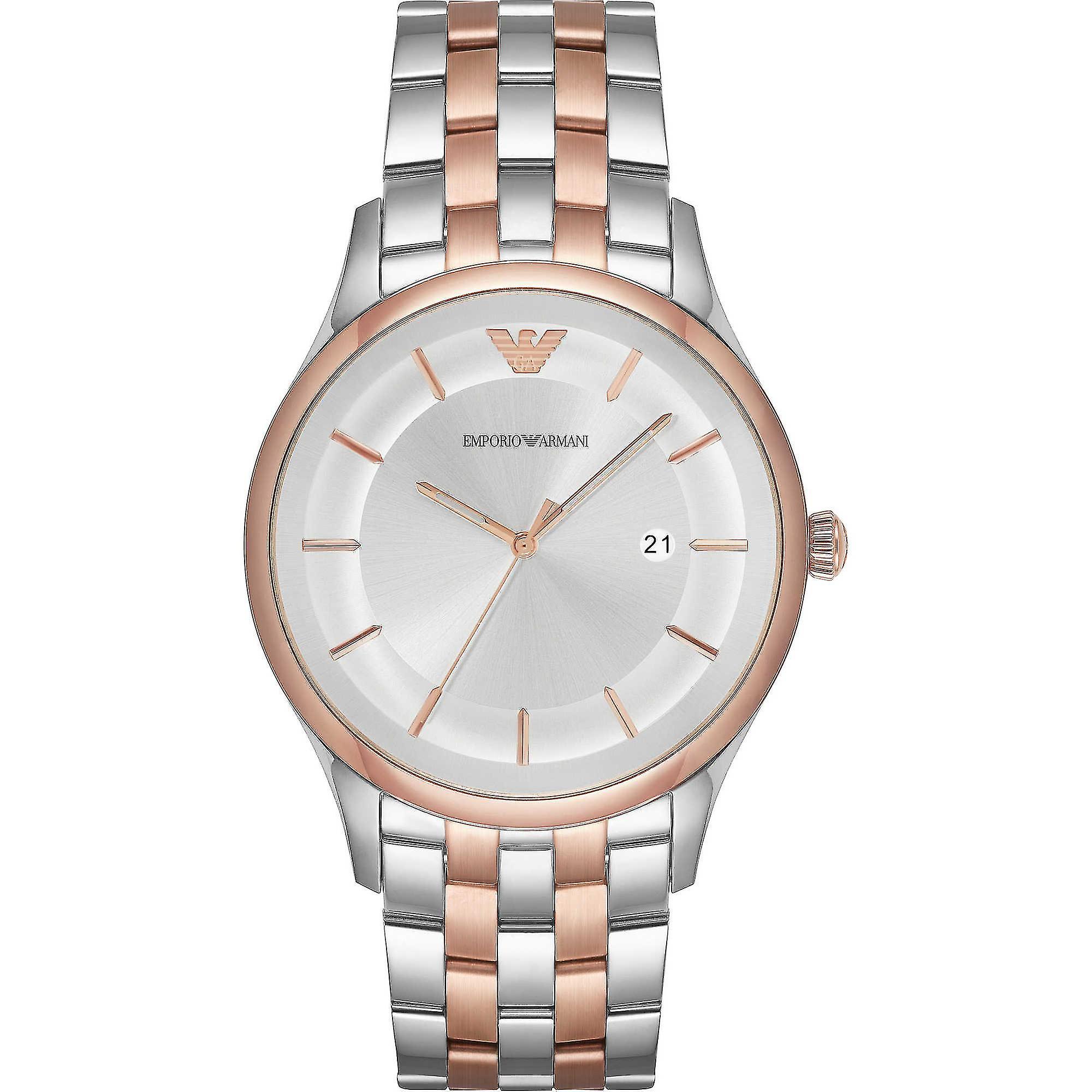 Emporio Armani Ar11044 Lambda Silver Dial Men's Watch