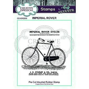 Creative Expressions Andy Skinner Imperial Rover Bike Stamp