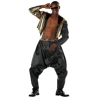 Old School Rapper 1980s 1990s MC Hammer Hip Hop Dance Party Mens Costume