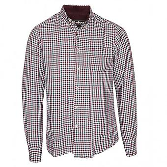 Barbour lange mouw Ancroft shirt, paars