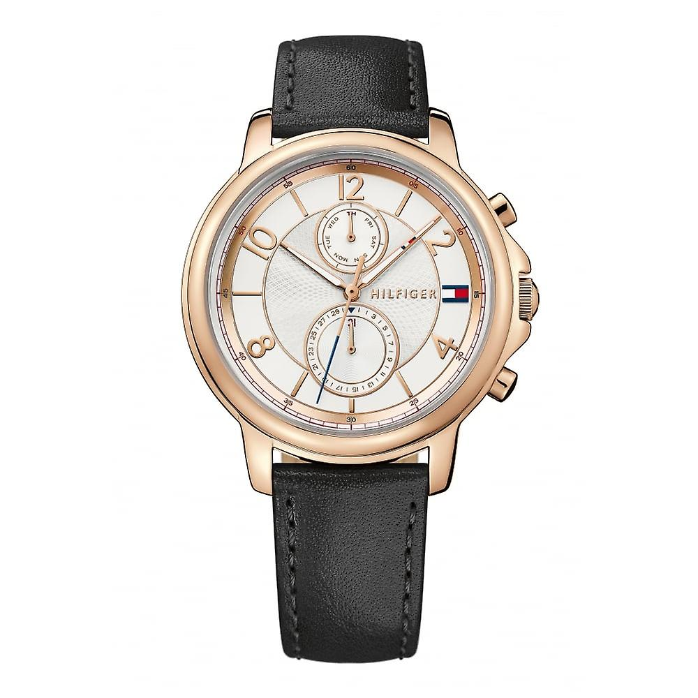 Tommy Hilfiger Ladies 'Claudia' Black Leather Strap Watch