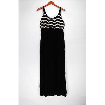 Du Jour Petite Dress MP Sleeveless Crochet Bodice Maxi Dress Black A307034
