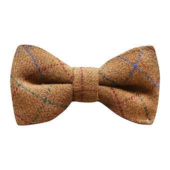 Heritage Check Rustic Brown Bow Tie, Tweed