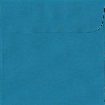 Benzin Blue Peel/Dichtung 160mm quadratische farbige blaue Umschläge. 100gsm Schweizer Premium FSC-Papier. 160 mm x 160 mm. Wallet-Stil-Umschlag.
