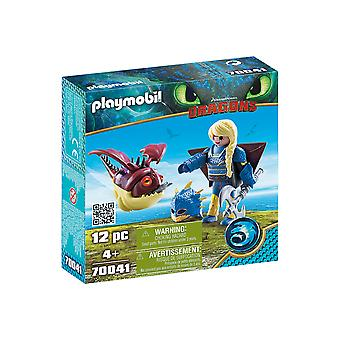 Playmobil DreamWorks Dragons Astrid ja Hobgobbler 12PC Playset